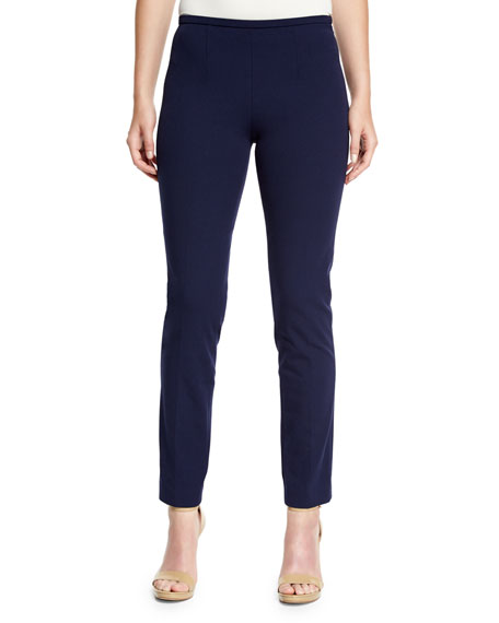 Michael Kors Collection Side-Zip Skinny Pants, Maritime