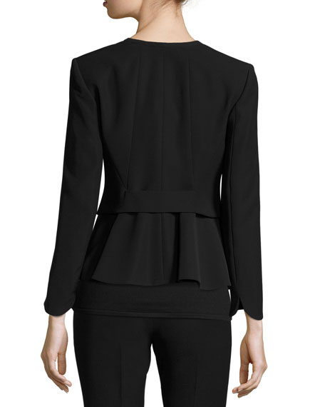 Techno Cady One-Button Jacket, Black