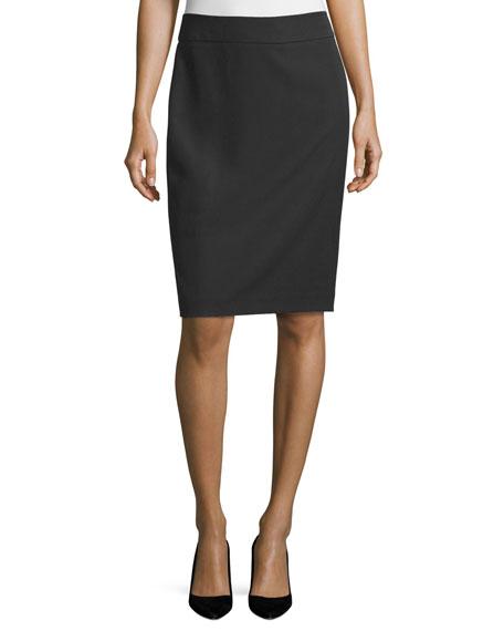 Armani Collezioni Techno Cady Pencil Skirt, Black
