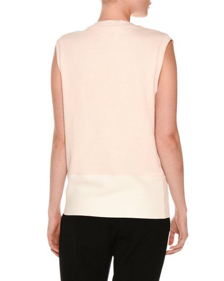 Scuba Cactus-Patch Sleeveless Sweater, Jasmine Pink