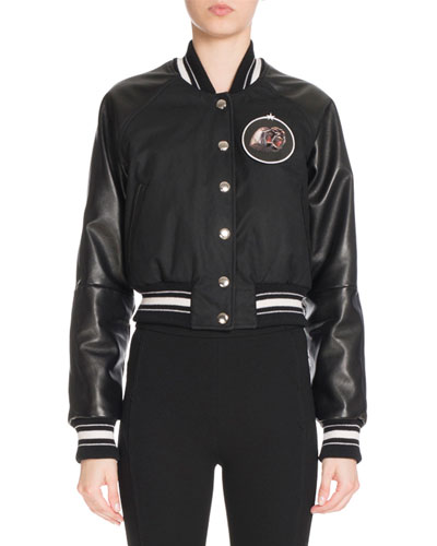 Monkey Brothers Patch Bomber Jacket, Black