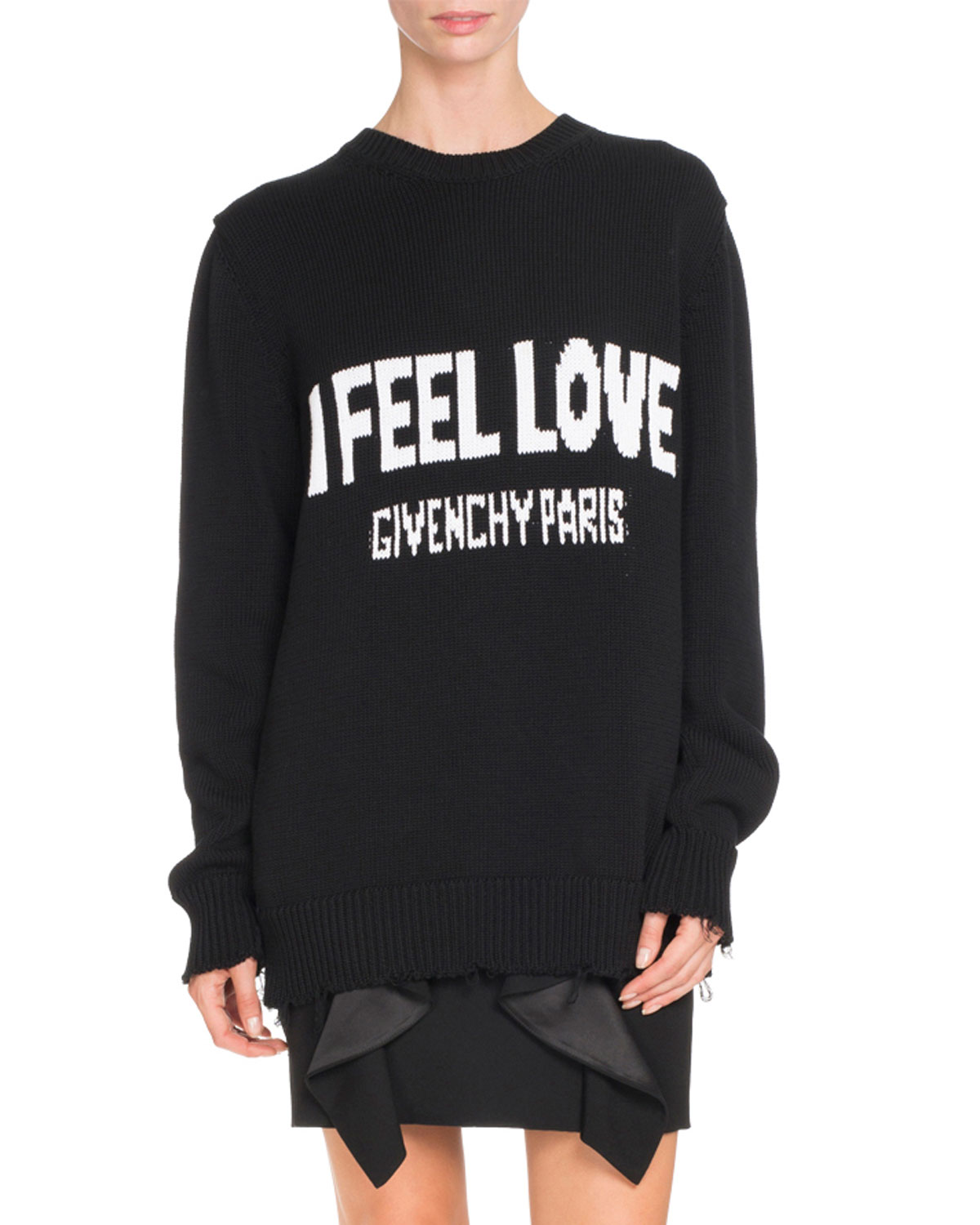 a51966c8 Givenchy I Feel Love Graphic Sweater, Black   Neiman Marcus