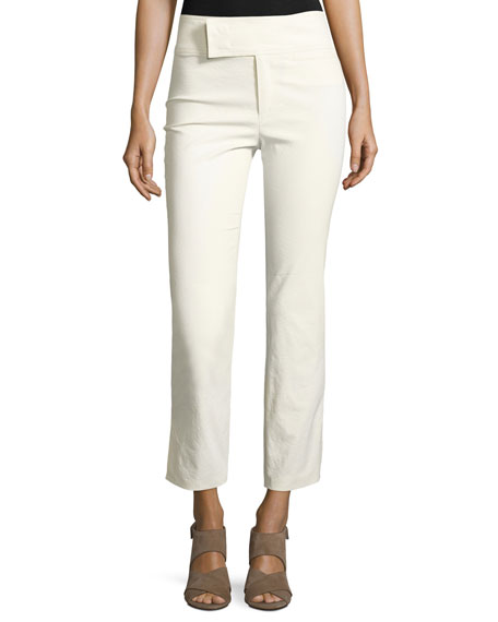 Isabel Marant Wide-Waist Slim Cropped Pants