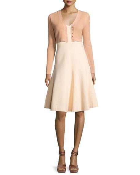 Sleeveless V-Neck Swing Dress