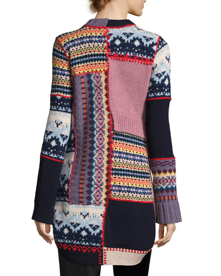 Fair Isle Patchwork Sweater, Multi