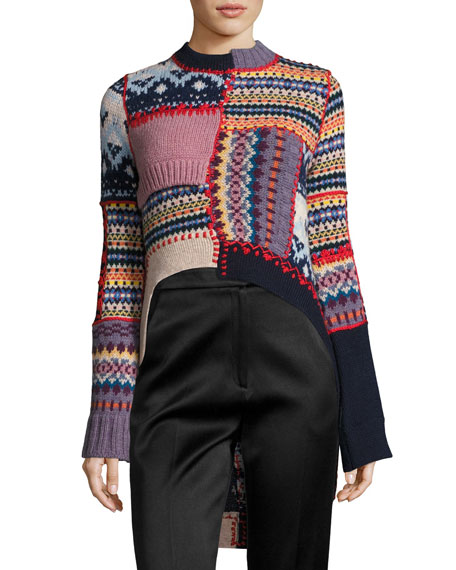 Alexander McQueen Fair Isle Patchwork Sweater, Multi
