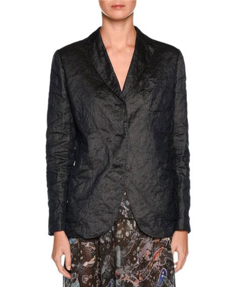 Three-Button Classic Jacket, Dark Navy