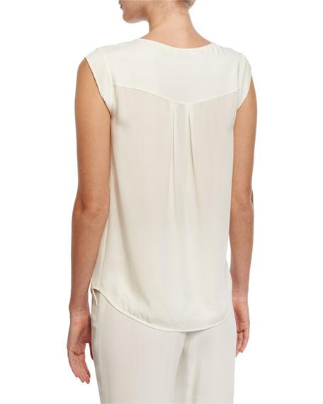 Camicie Lise Cap-Sleeve Blouse