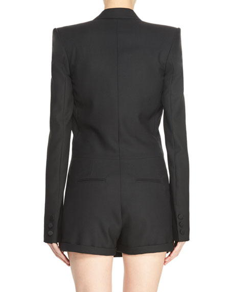 Suiting Jacket Romper, Black