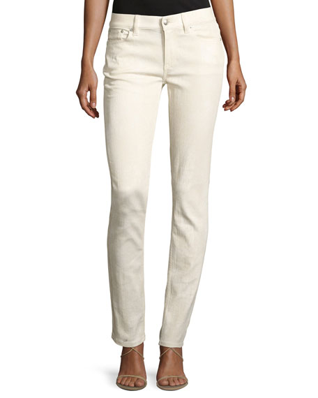 Ralph Lauren Collection 105 Washed Cigarette Jeans, White