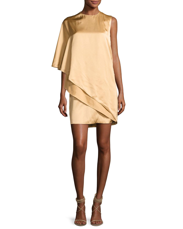 Ralph Lauren Collection Kayla Draped One-Shoulder Dress, Sand ...