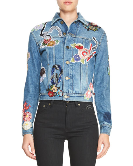 Signature Embroidered Jean Jacket