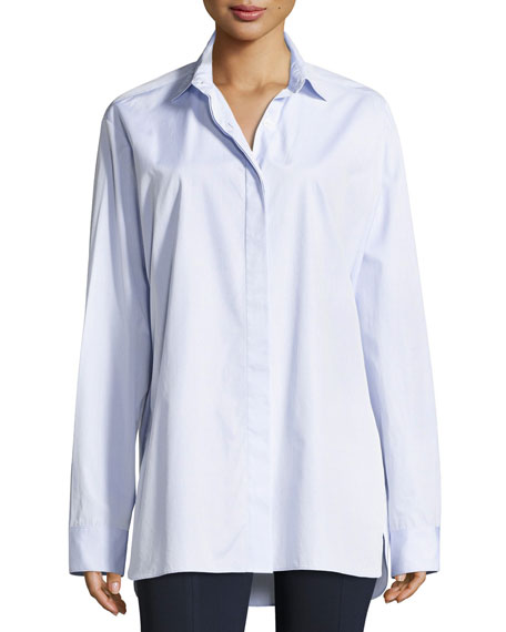 Big Sisea Twill Shirt, Light Blue