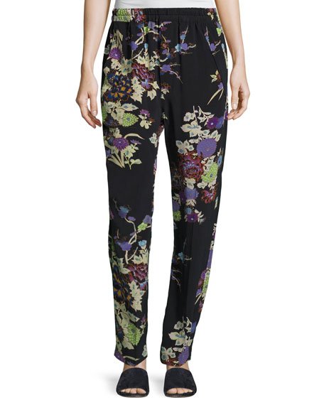 Isabel Marant Isley Floral Bouquet Printed Pajama Pants,