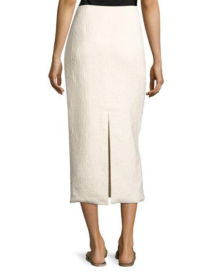 Odille Silk Long-Sleeve Shirt, Light Beige