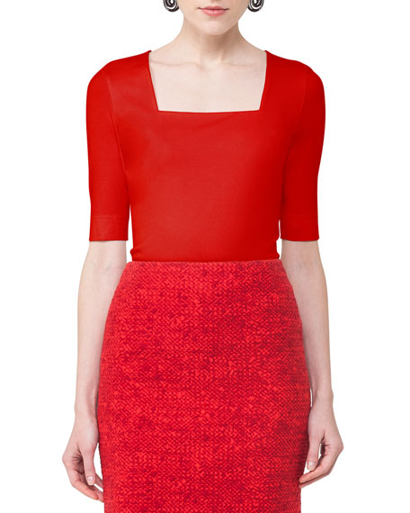 Akris punto Square-Neck Half-Sleeve Top and Matching Items