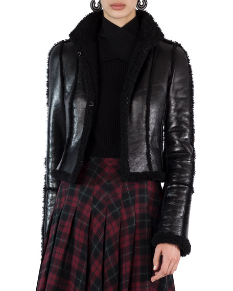 Akris punto Shearling-Lined Open-Front Jacket and Matching Items