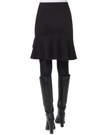 Flounced Jersey Skirt