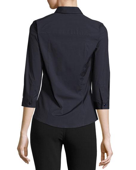 Classic 3/4-Sleeve Poplin Shirt