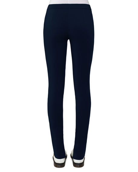 Fria Skinny Side-Zip Pants, Blue