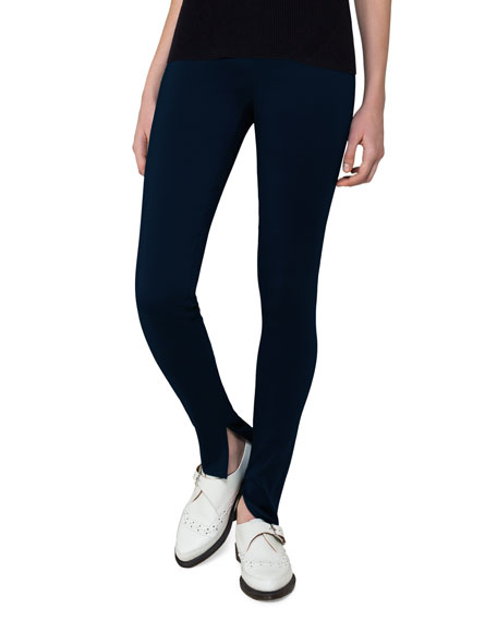 Fria Skinny Side-Zip Pants, Blue
