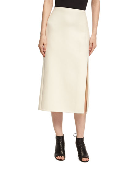 Narciso Rodriguez Narciso Rodriquez Wool-Silk Pencil Skirt with