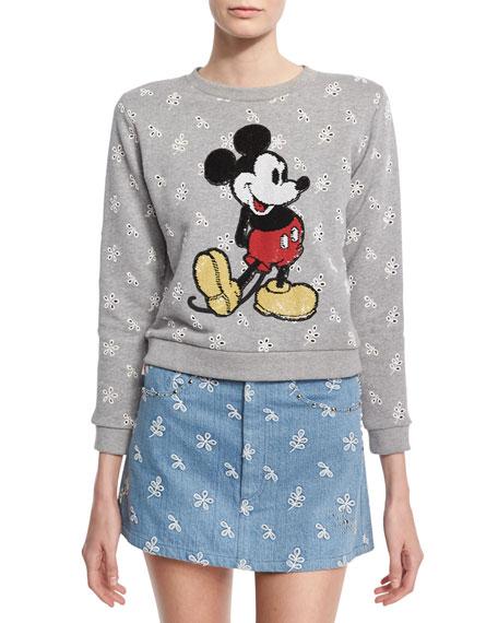 Marc Jacobs Mickey Mouse Sweatshirt, Gray