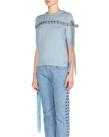 Fendi Ribbon-Stitched Cashmere Sweater