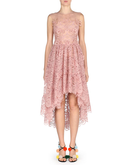 Sleeveless 3D Bow Lace Cocktail Dress