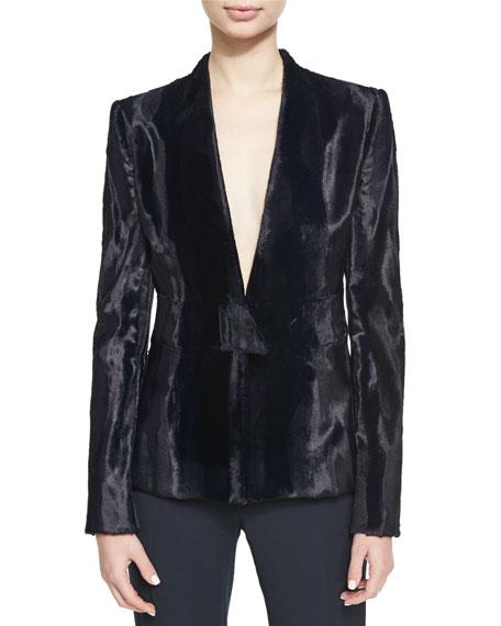 Cushnie Et Ochs Evangelina Velvet V-Neck Jacket