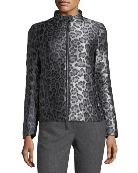 Cheetah-Print Puffer Jacket