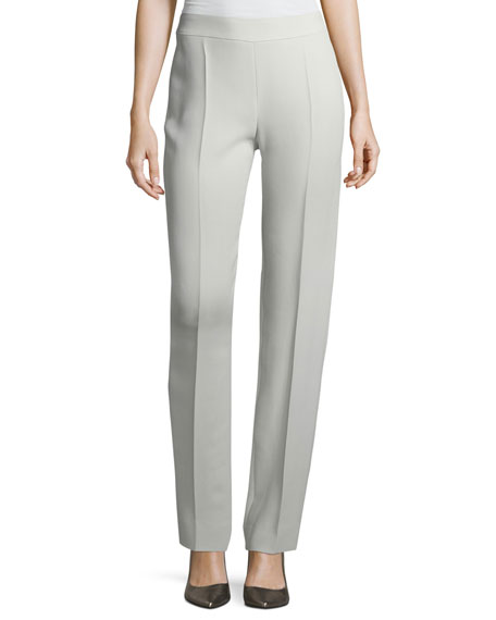 Armani Collezioni Side-Zip Tech Cady Pants