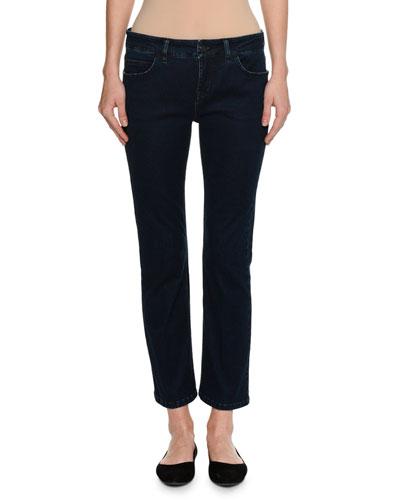 Low-Rise Slim-Straight Jeans, Blue