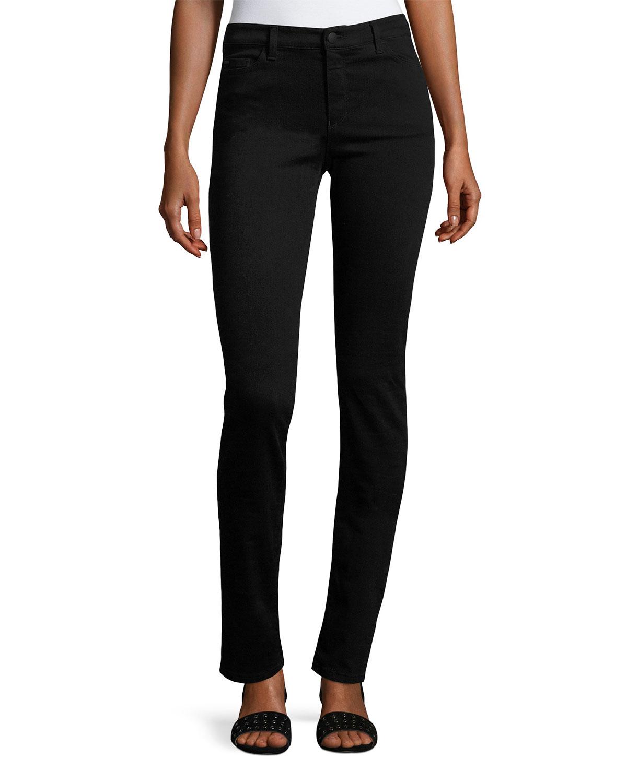e125f15015 High-Rise Stretch-Denim Slim Jeans, Black