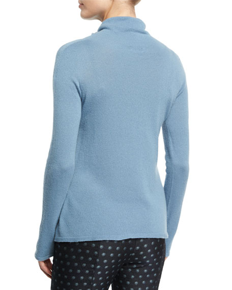 Cashmere Turtleneck Sweater, Medium Blue
