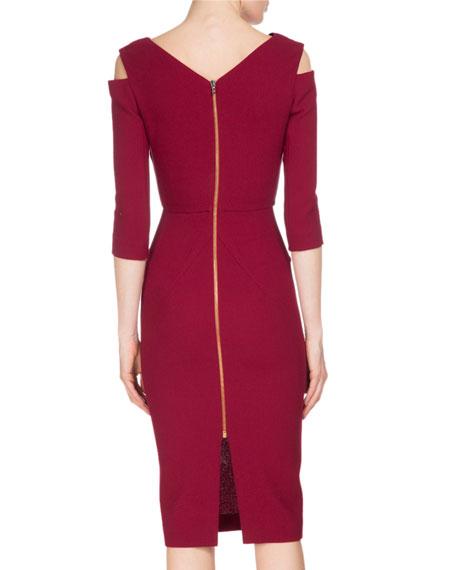 Kiverton Colorblock Cold-Shoulder Sheath Dress