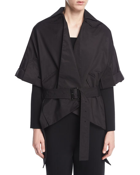 Roland Mouret Albert Belted Wrap Jacket, Black