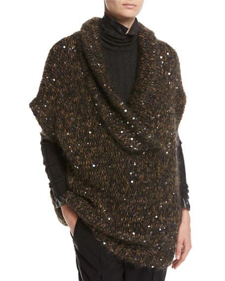Brunello Cucinelli Paillette-Embellished Cap-Sleeve Tunic