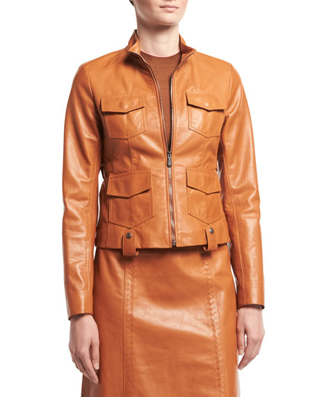 Calf Leather Safari Jacket