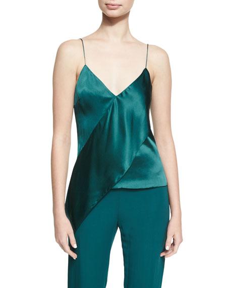 Cushnie Et Ochs Paulina Silk Satin Drape-Front Camisole