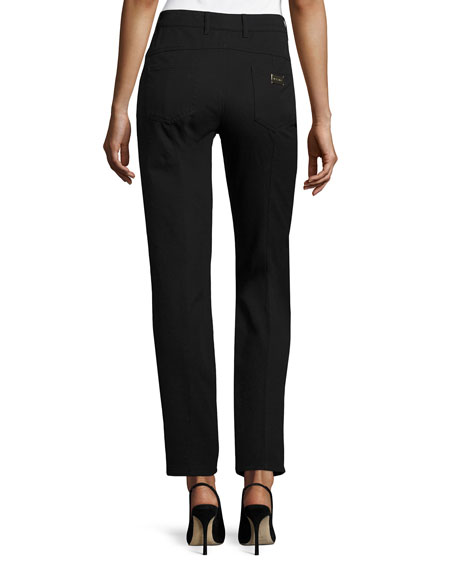 Escada J501 Cropped Straight-Leg Jeans