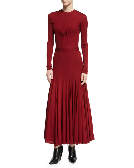 Derek Lam Ruched-Bodice Viscose Maxi Dress