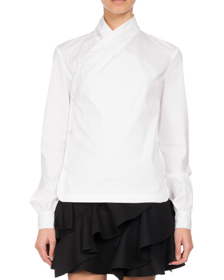 Pascal Millet Ruffle-Trim A-Line Miniskirt, Black and Matching