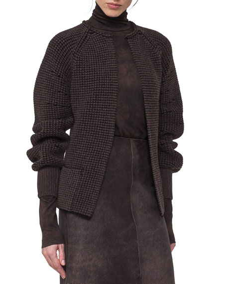 Akris Trapezoid-Stitch Cashmere Cardigan and Matching Items