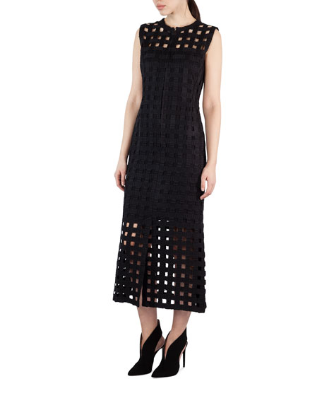 Akris Netted-Overlay Sleeveless Dress