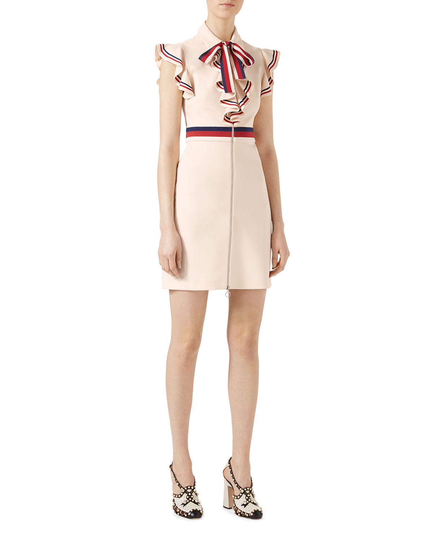 a643ecf22003 Gucci Sylvie Web Stretch Jersey Dress