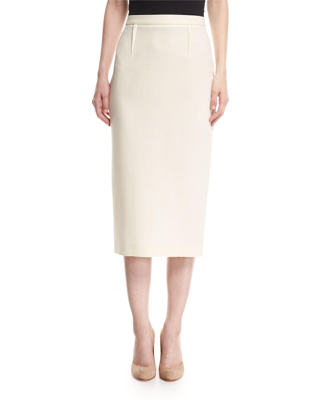 a6b965d29 Roland Mouret Arreton Wool Crepe Pencil Skirt | Neiman Marcus