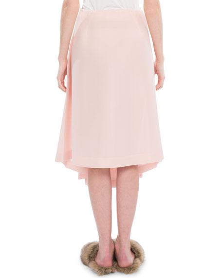 Box-Pleated Midi Skirt
