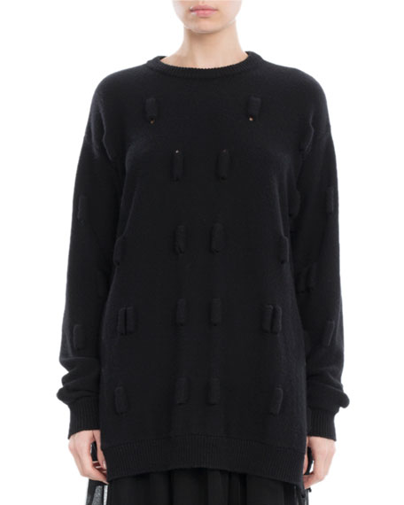 Simone Rocha Bubble Wool-Cashmere Oversized Sweater