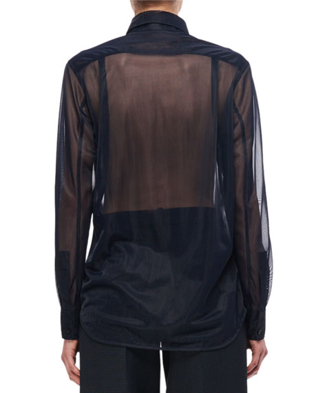 Sheer Pocket Shirt